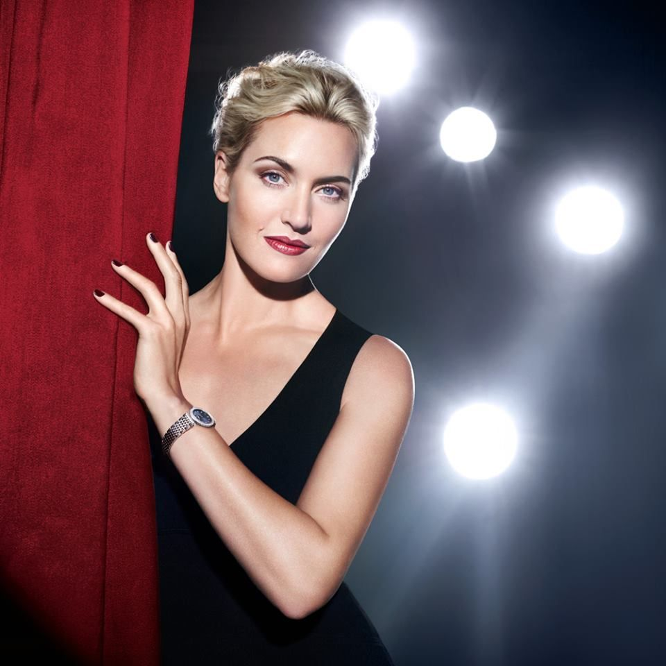 Longines Ambassador Katewinslet Wearing The New La Grande Classique Le Longines 100 Diamonds
