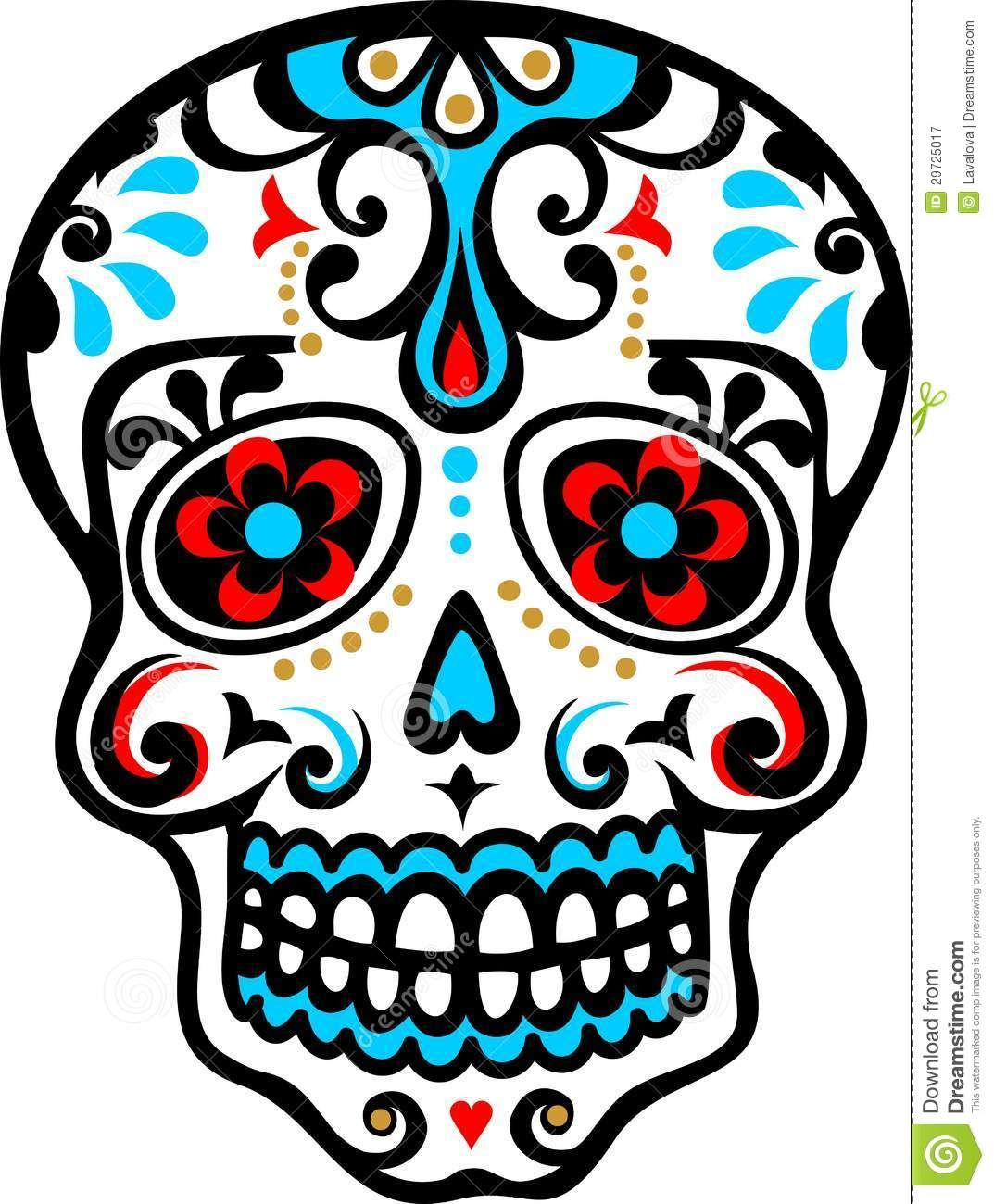 Mexican Skull Royalty Free Stock Photography Image 29725017 Skull Coloring Pages Day Of The Dead Skull Sugar Skull Tattoos