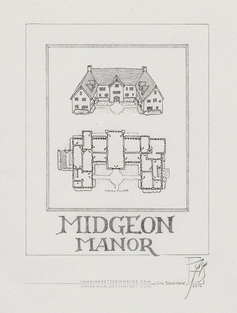 Midgeon Manor by SirInkman deviantart com on @DeviantArt | Medieval
