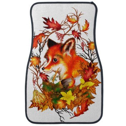 Fox Kit Car Mat - baby gifts giftidea diy unique cute