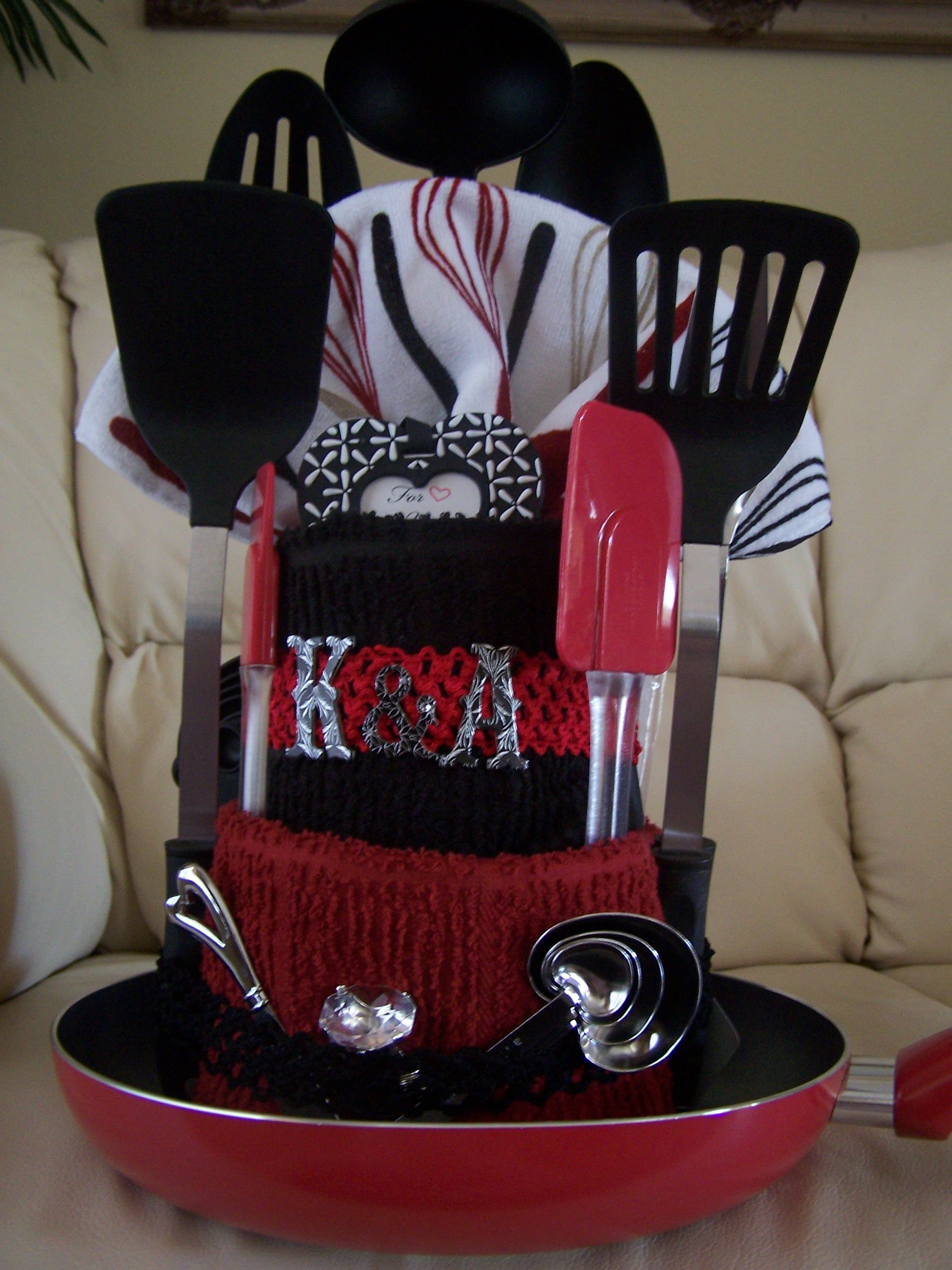 Kitchen Gift Kitchen Towel Cake Bridal Shower Gift Gift Ideas Make It