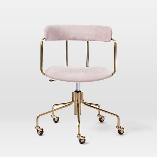 Lenox Swivel Office Chair In 2020 Swivel Office Chair Pink Office Chair Office Chair
