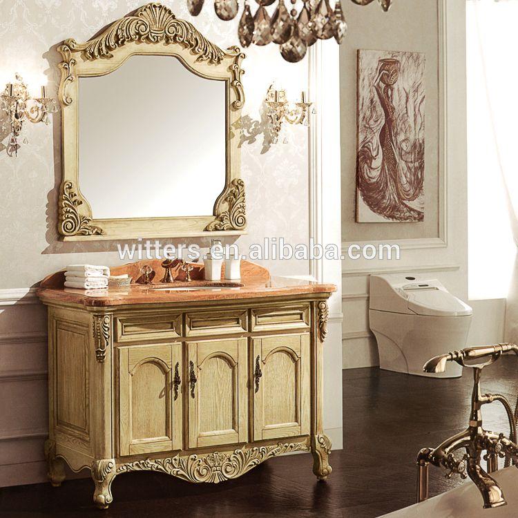 Haut de Gamme Italien Classique Salle De Bains Cabinet en Jaune