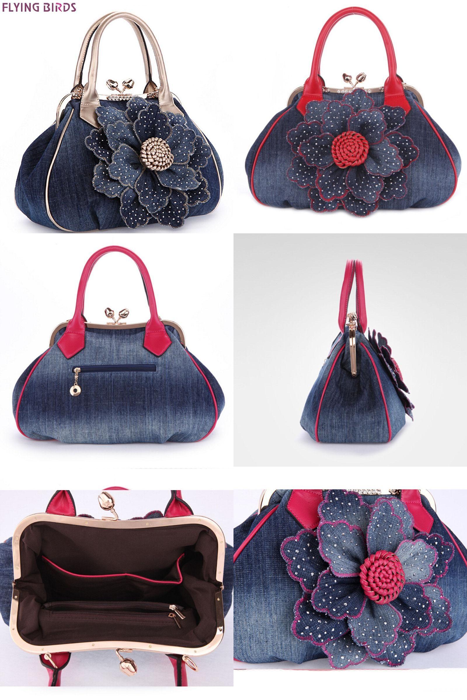 a49728ff699 Visit to Buy] FLYING BIRDS designer women handbag vintage flower ...