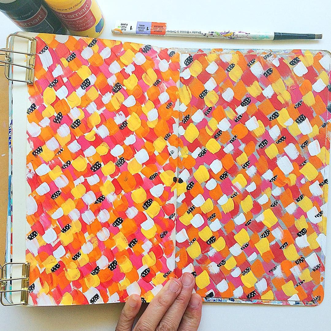 Day 56/100: Art journal page made from cast off paint from the previous spread…