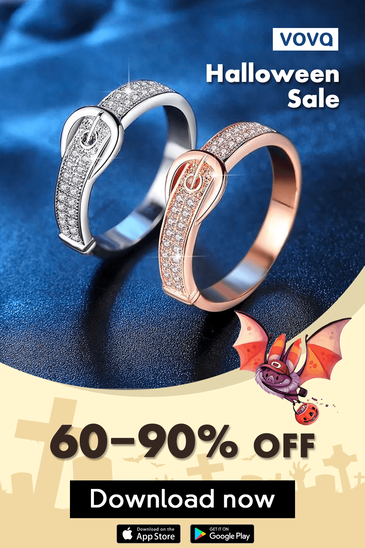 Halloween Sale Enjoy 6090 off on Vova App. Halloween sale