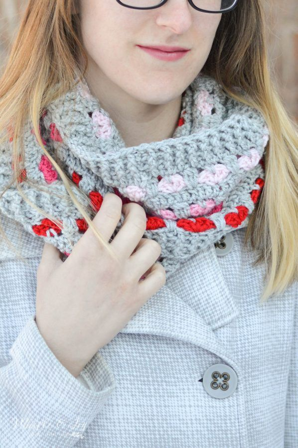 Crochet Puppy Love Infinity Scarf Pattern Infinity Scarves And