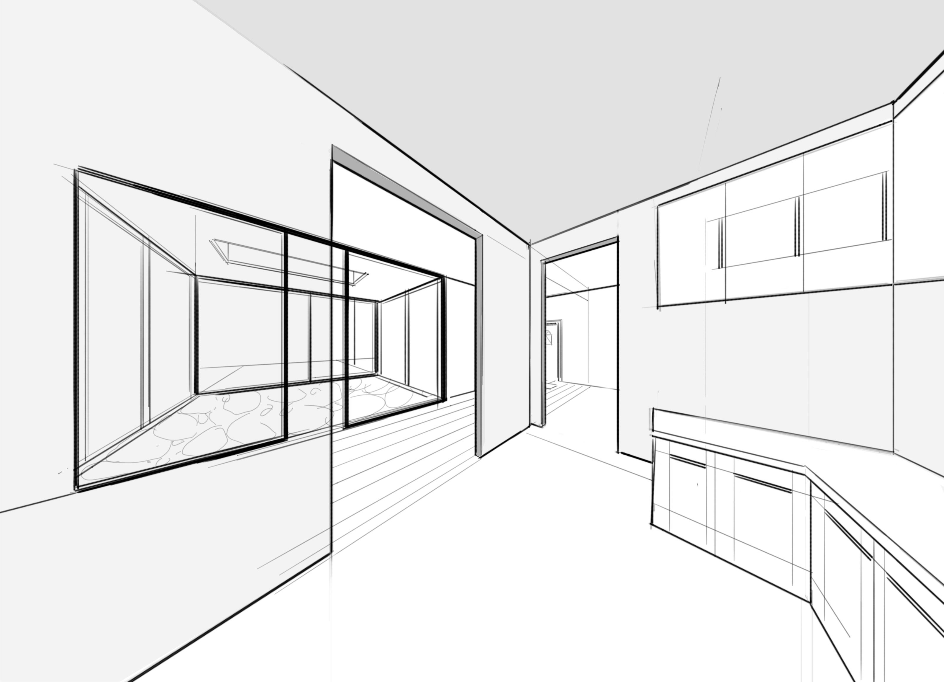 Perspective guides using two point for drawing interiors also rh in pinterest