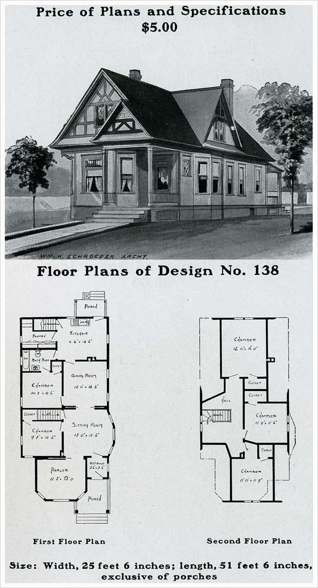Better Plan With Double Vestibule And Two Chambers On The Main Floor One Can Be Converted To A Library Study And T Cottage Floor Plans House Plans How To Plan