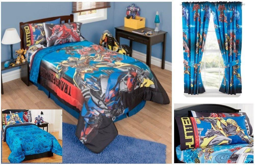 New Kids Boys Transformers 4 Bedding Bed In A Bag Comforter Set Prints Hasbro