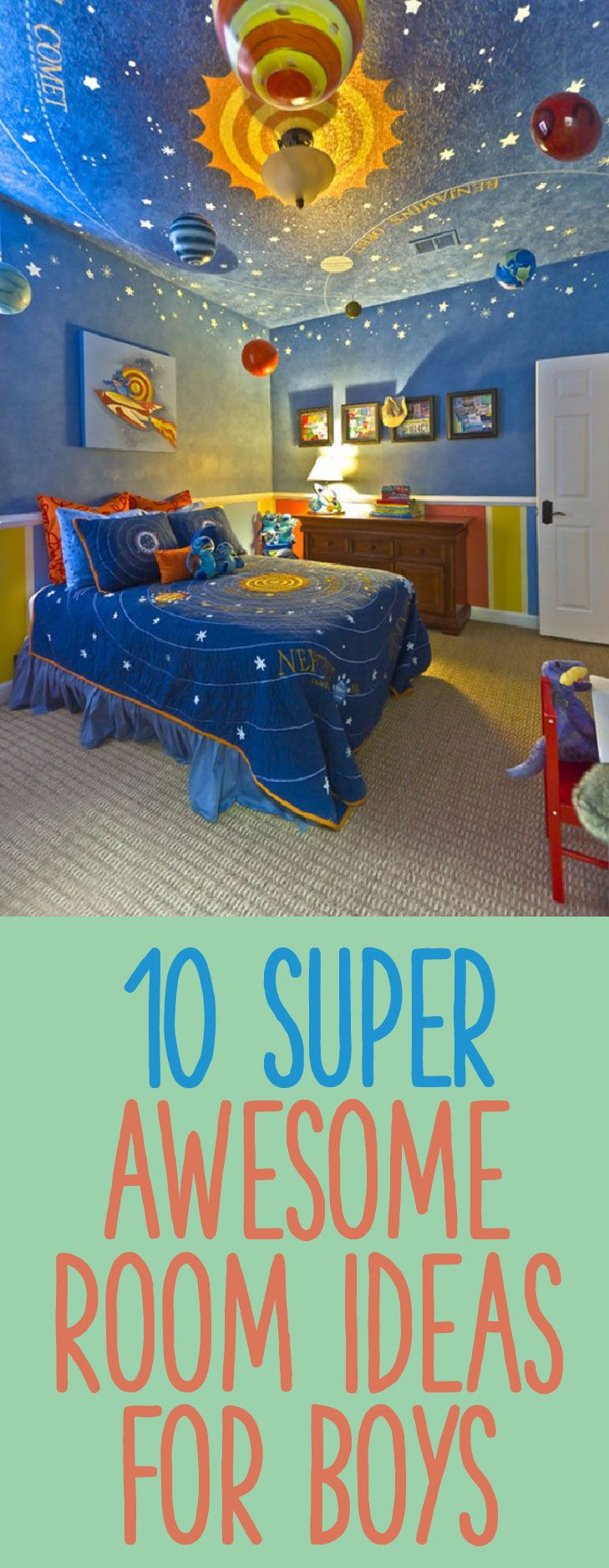 10 Super Awesome Room Ideas For Boys Kid Room Decor Boy Room Kids Room