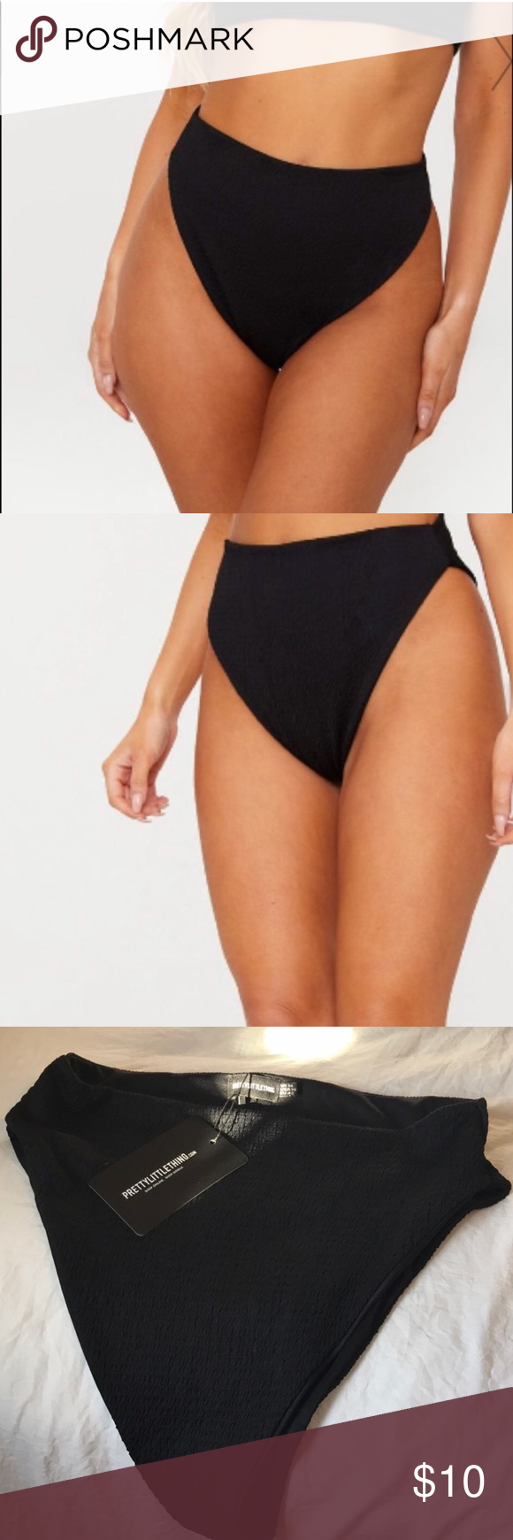 8fd8526331 PLT bikini bottoms Black high waisted bikini bottoms from  PrettyLittleThing. Very flattering but a little too big for me!! Recently  purchased. NWT ...
