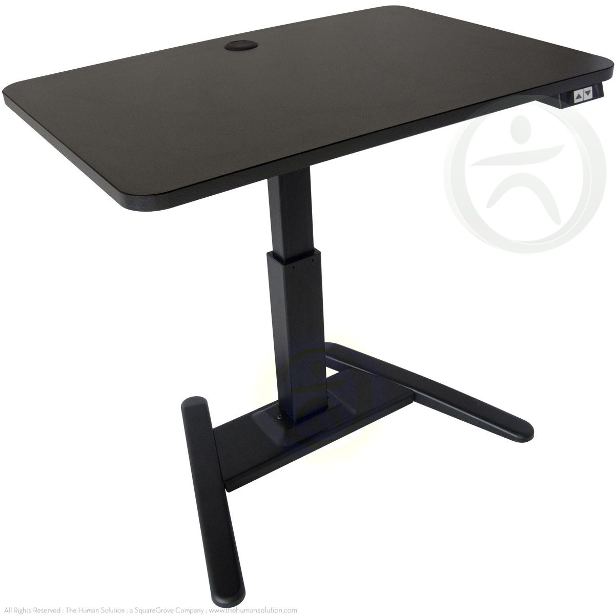 Perfect The UpLift 975 Is A Single Leg Adjustable Height Standing Pedestal Desk  With A Smaller
