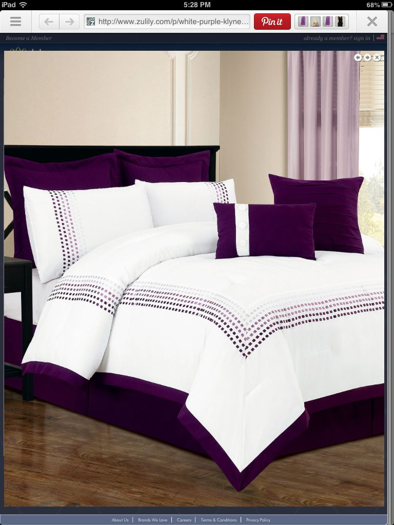 Best Love Purple And White Comforter Purple Bedding 400 x 300