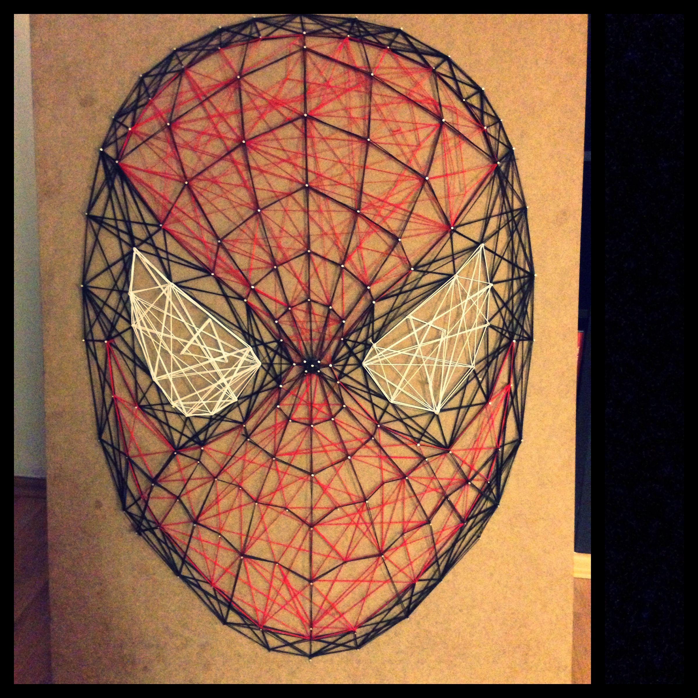 String Art Spiderman String Art Diys To Do Pinterest String Art And