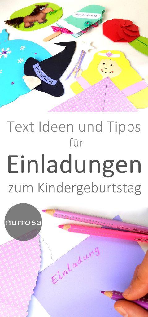 text ideen und tipps für einladungen zum kindergeburtstag
