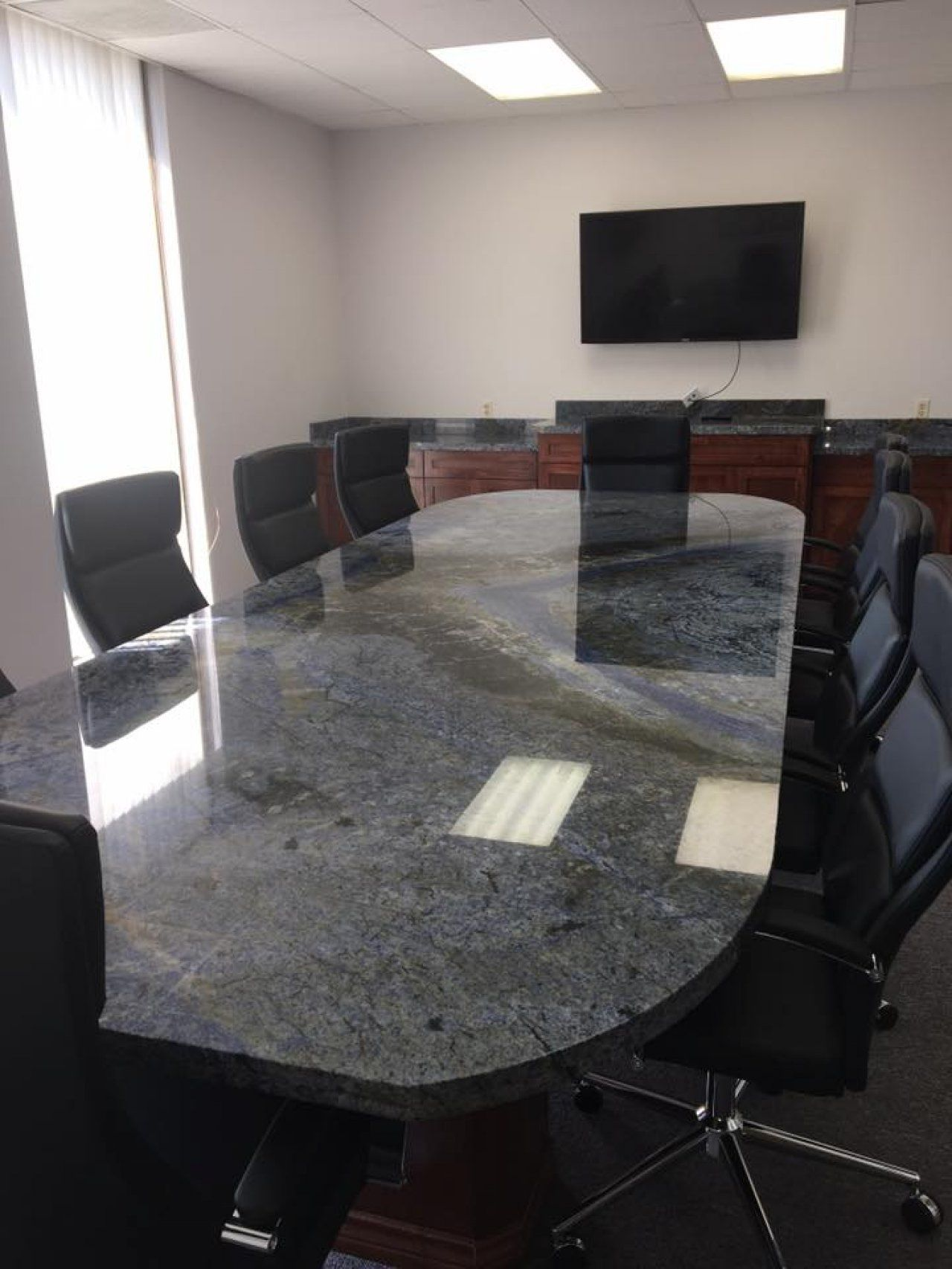 Granite Table Top in Conference Room in Houston, Texas