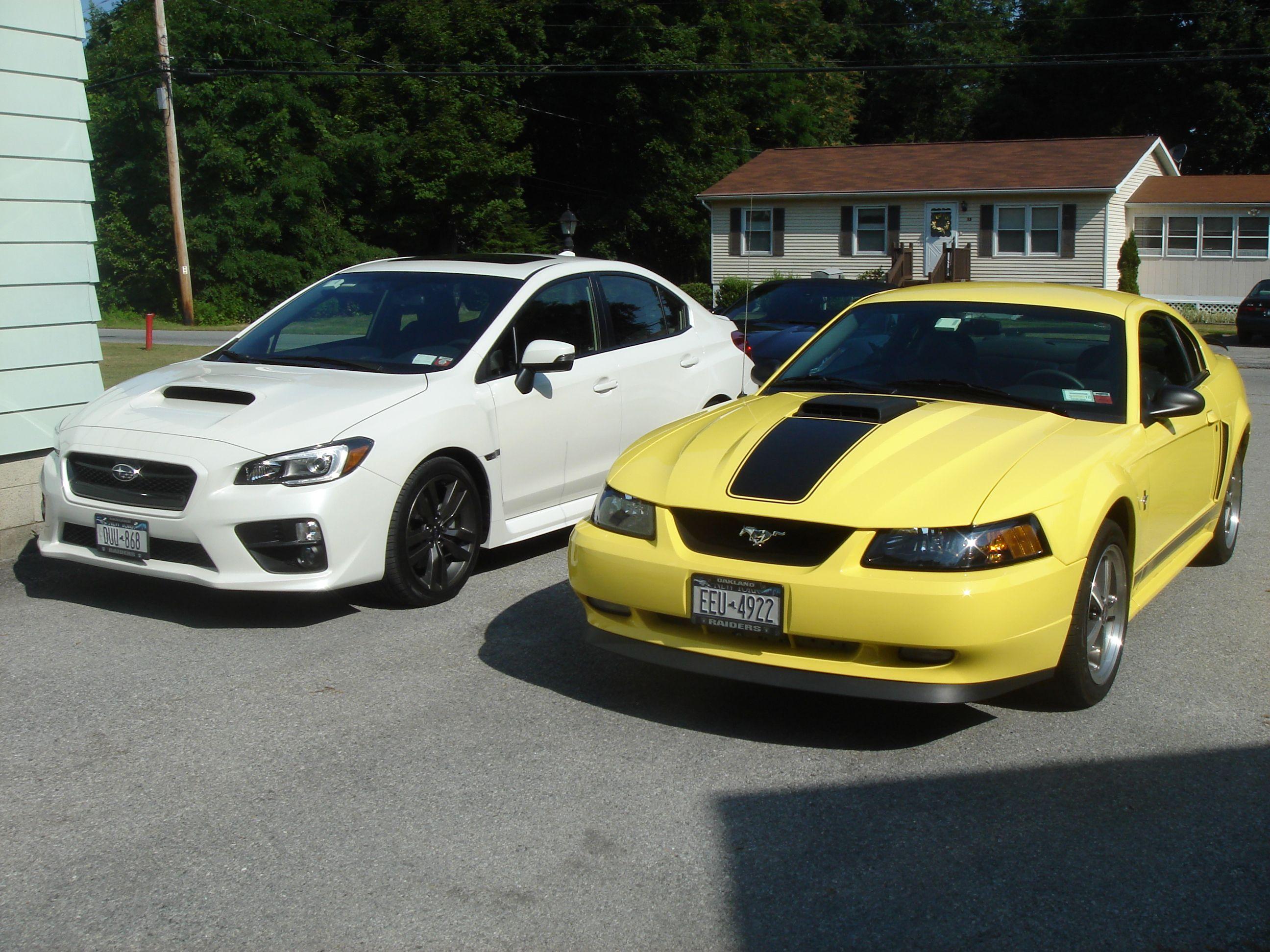 2016 Subaru WRX and 2003 Mustang Mach 1 Cars Pinterest