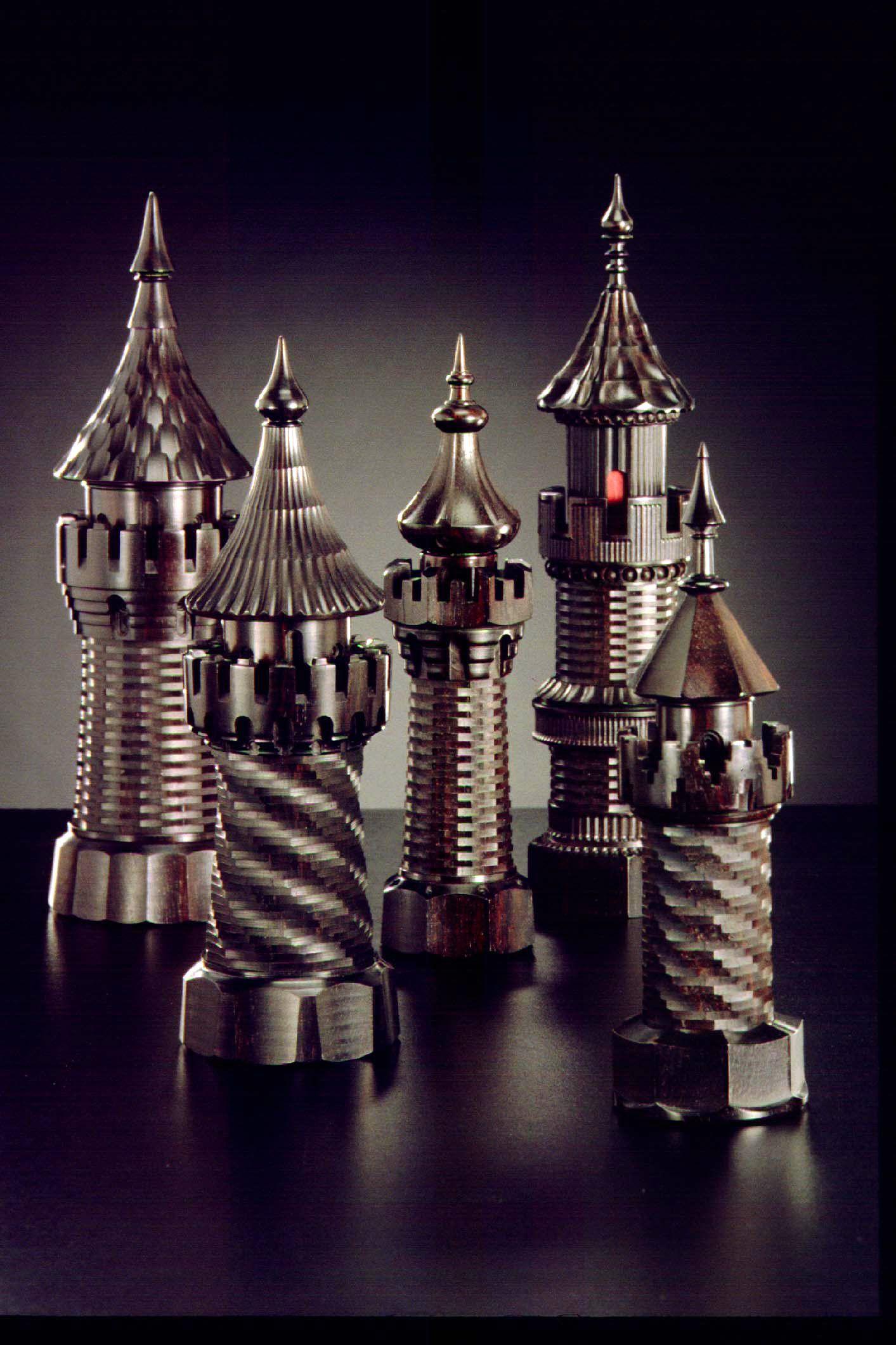 Ornamental bottles - Scent Bottles Turned By Jon Sauer On The Holtzapffel Ornamental Lathe