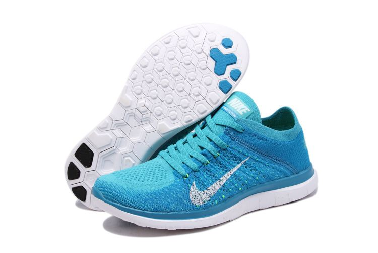 Womens Nike Free 4.0 Flyknit Lake Blue White Shoes,Nike Free 4.0 OnSale!  Flyknit
