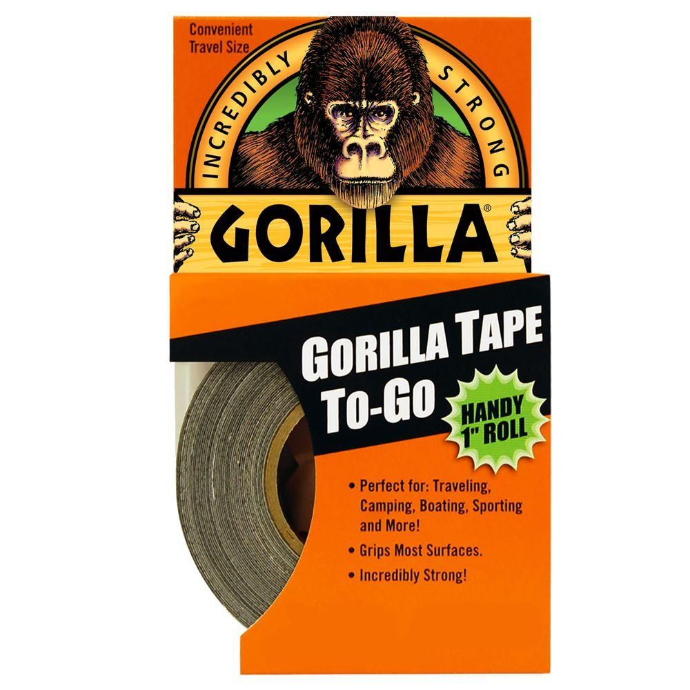 Gorilla 1 in  x 10 yds  Gorilla Tape to Go Duct Tape (6-Pack