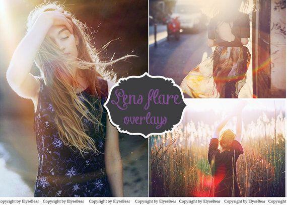 SALE 40 Perfect Lens Flare Overlays  Natural Sun Halo от ElyseBear