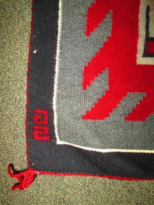 Found on EstateSales.NET: Detail of Navajo Rug
