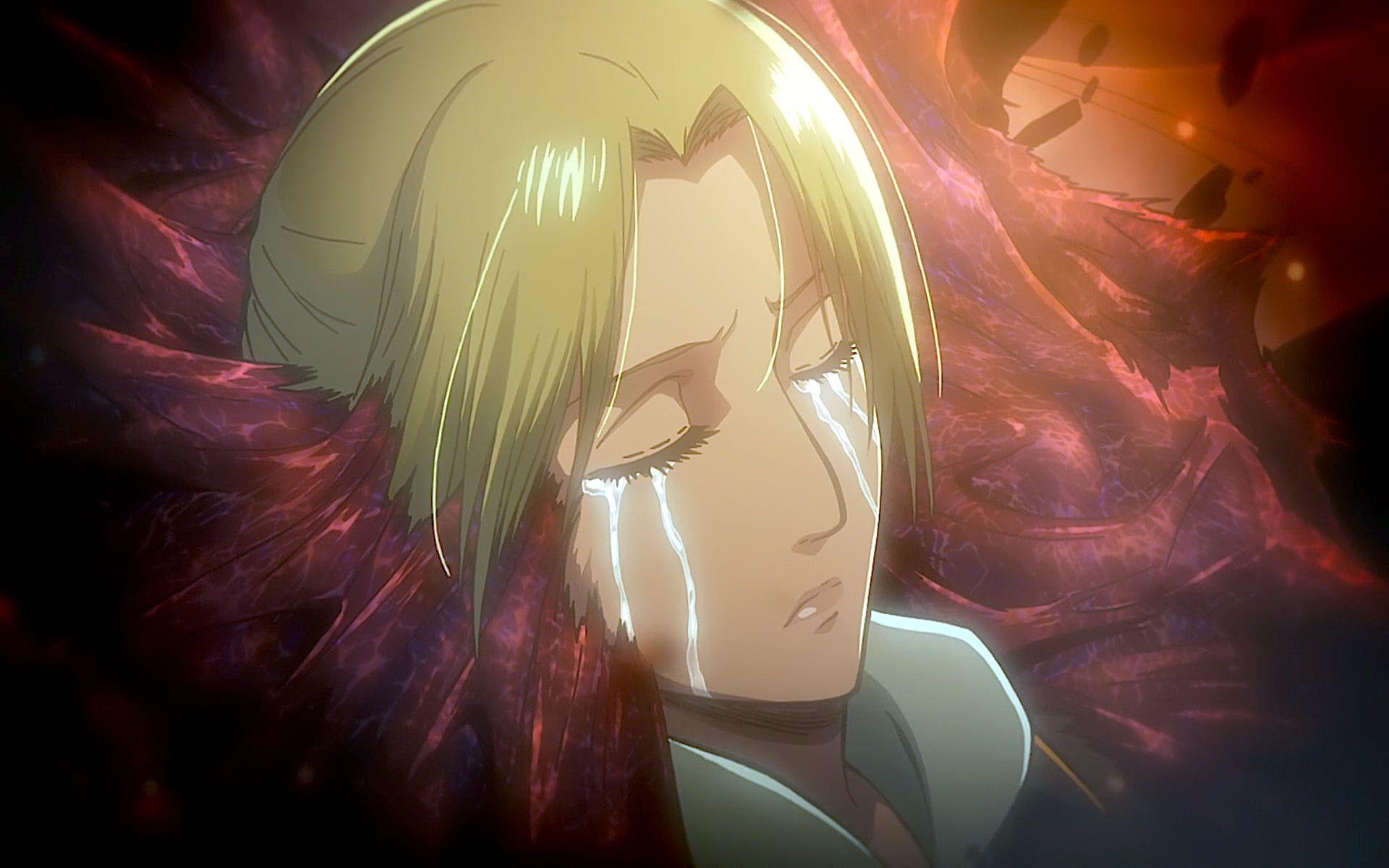 Anime Attack On Titan Annie Leonhart Attack On Titan Crying Shingeki No Kyojin 1080p Wallpaper Hdwall Annie Leonhart Attack On Titan Attack On Titan Anime