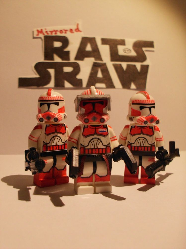 Lego Star Wars minifigures - Clone Custom Commander Thorn + 2 Shock ...