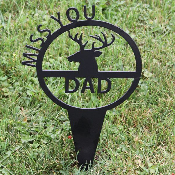 Deer Antler Memorial Garden Stake By NewCastleSign On Etsy, $29.00