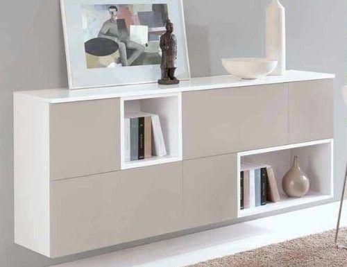 Vajillero moderno melamina aparador ancho 140cm muebles for Muebles para living comedor