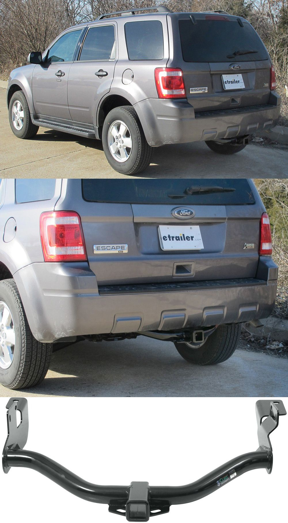 Curt Trailer Hitch Features Bolt On Installation And Is Custom Fit For The Ford Escape Attach A Cargo Carrier For Extra Camping And Hiking Gear