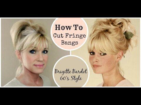 How To Cut Fringe Bangs Demo Brigitte Bardot 60 S Style Youtube