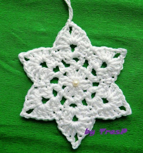 Adornos de Navidad (con patrón) | CROCHET TRESP | Pinterest | Croché ...