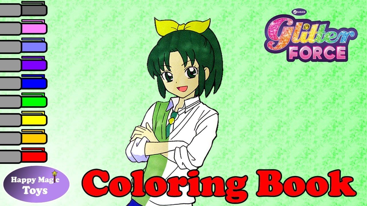 Glitter Force Coloring Book April Happy Magic Toys