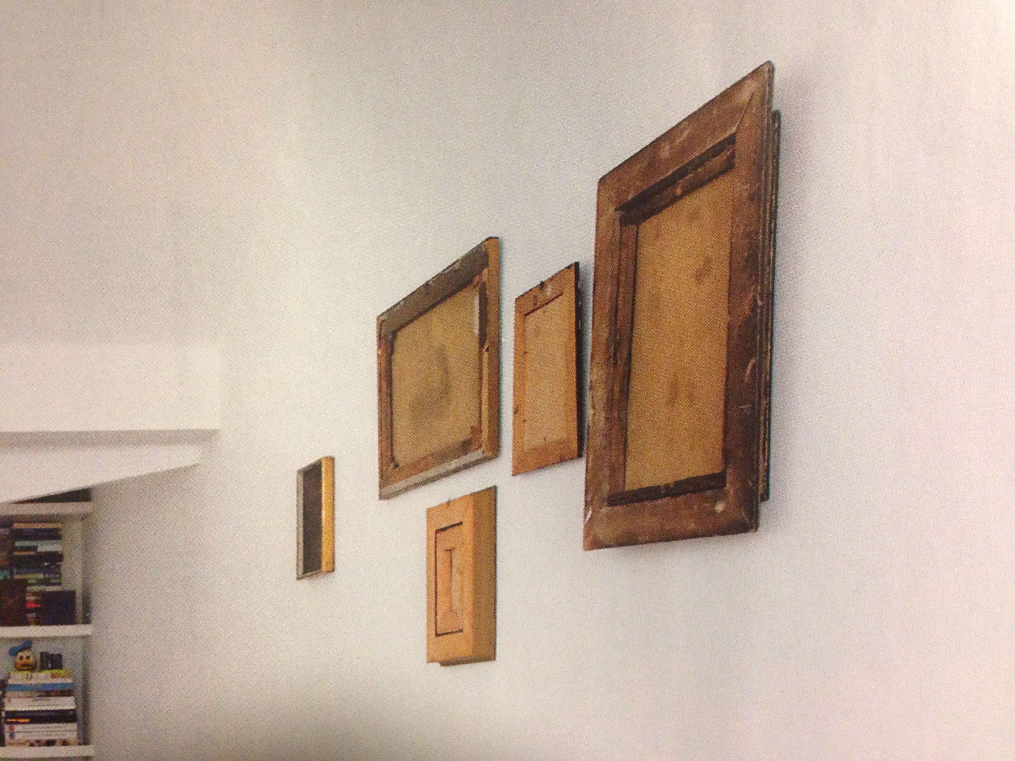Old frames, back side