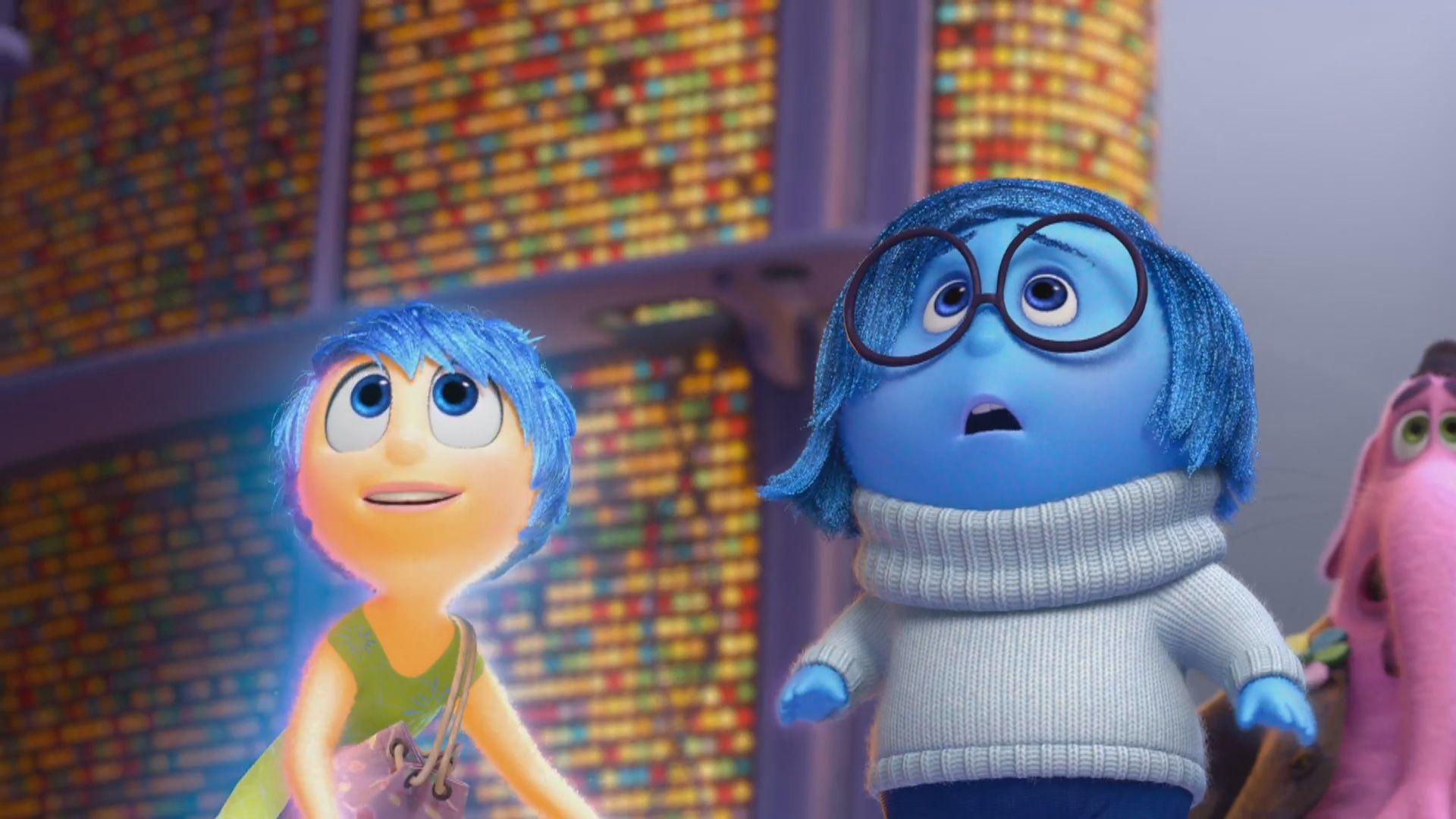 Inside Out Joy, Sadness and Bing Bong Disney inside