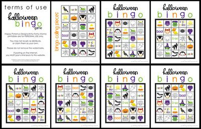 12 fantastic features at Bacon time for Halloween from linky party, love this printable Halloween bingo