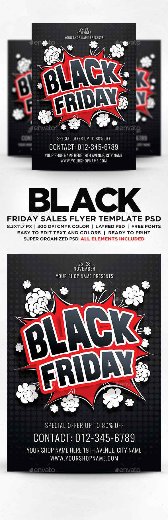 Black Friday Sales Flyer  Psd Template Inspiration Poster