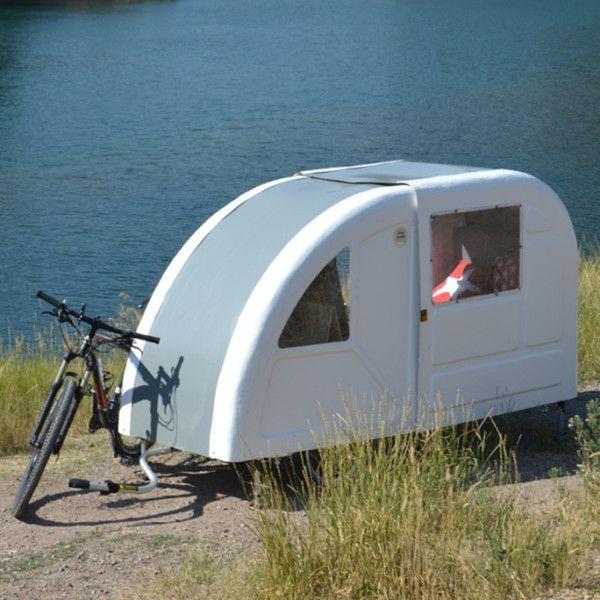 Mini Caravana Para Bicicleta Wide Path Camper Mini Caravane Remorque Pour Velo Caravane