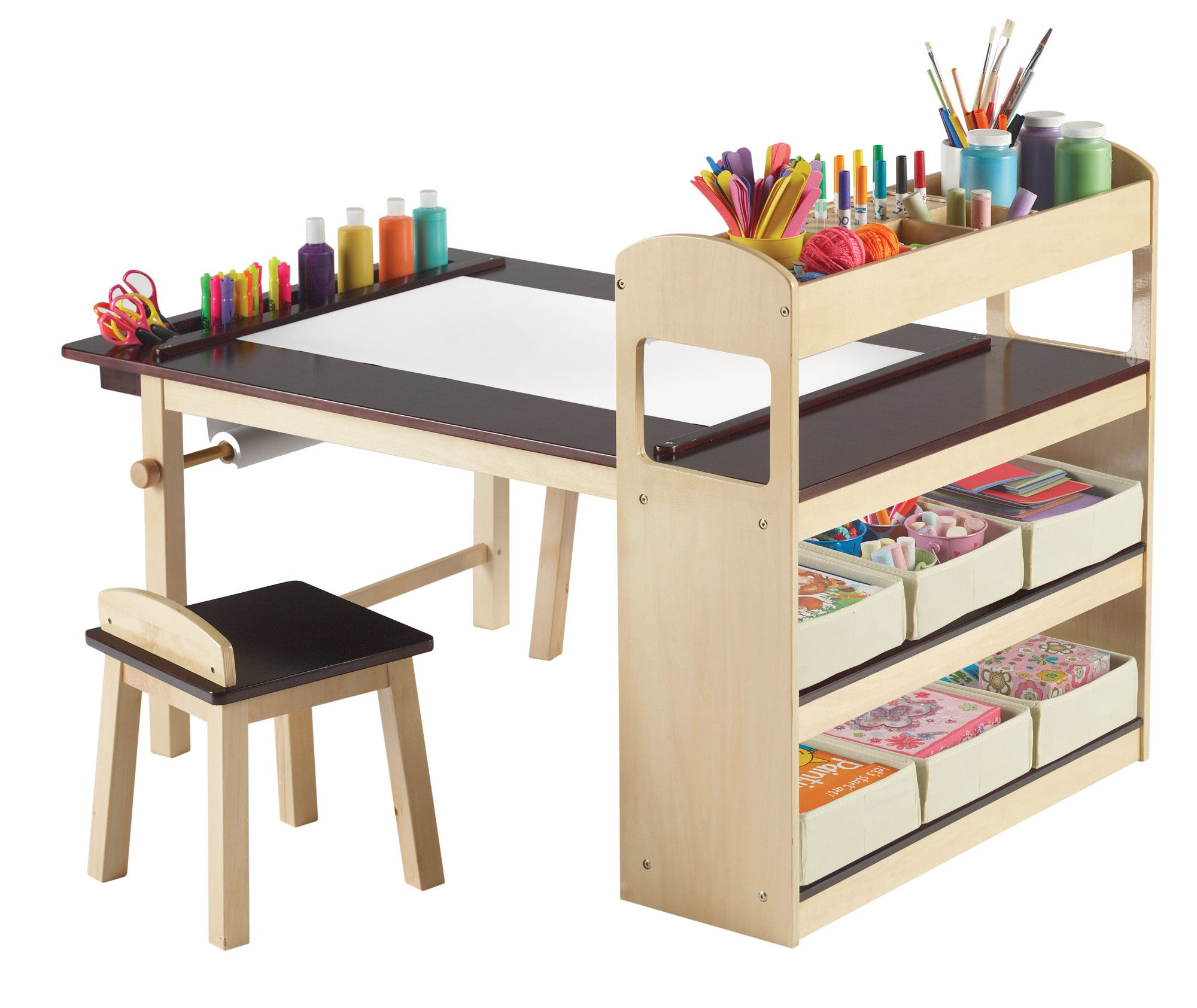 Guidecraft Deluxe Art Center Allmodern Kids Art Corner Kids