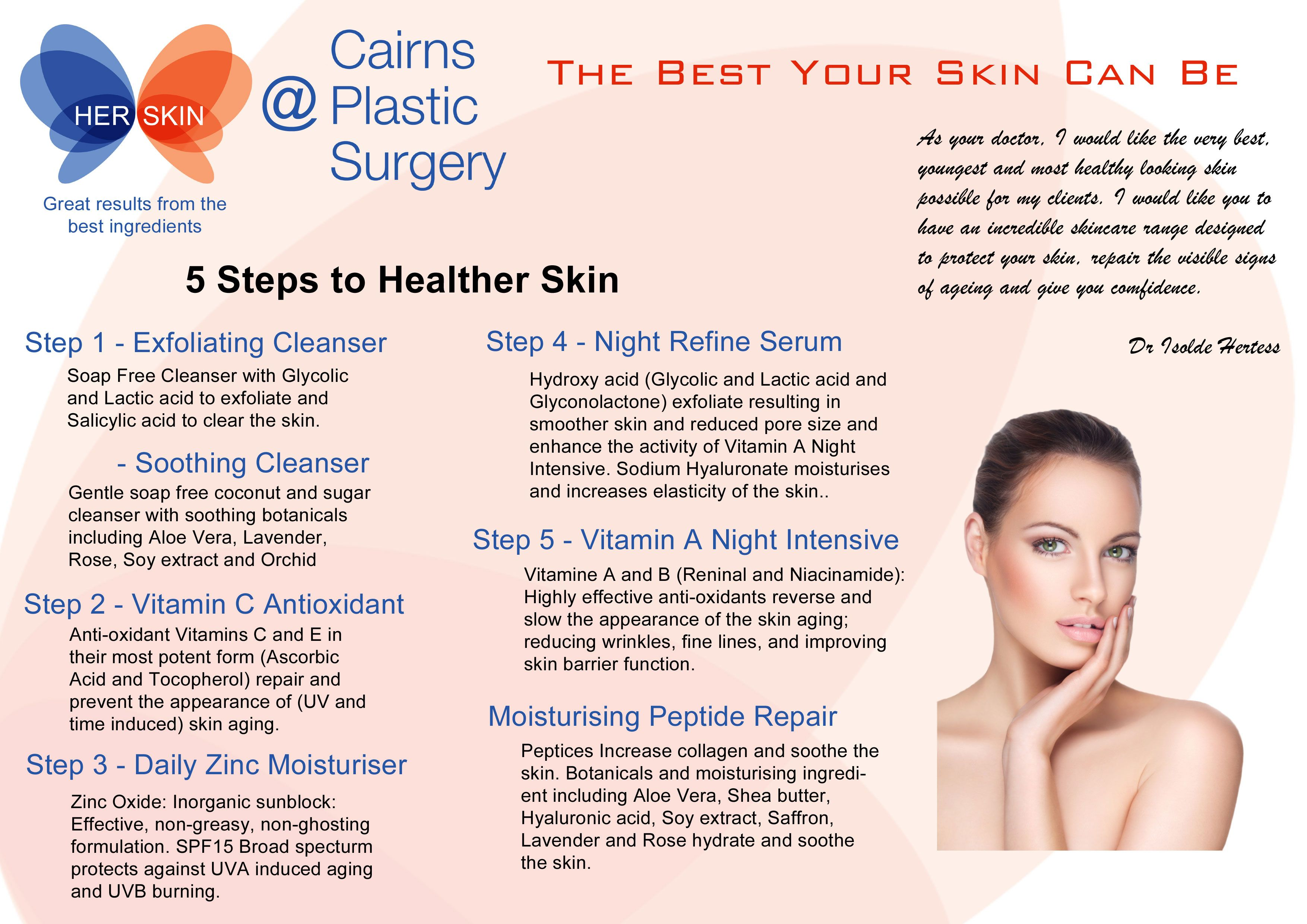 Exclusive To Cairns Plastic Surgery Her Skin Is A Evidence Based Medical Grade Skin Care Range Medical Skin Care Skin Care Range Skin Care Products Design