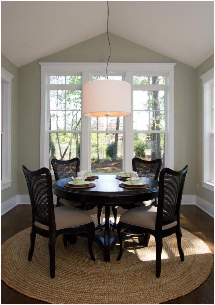 Diningroomtraditionalwilmingtonbreakfastnookcanedining Entrancing Circular Dining Room Table 2018