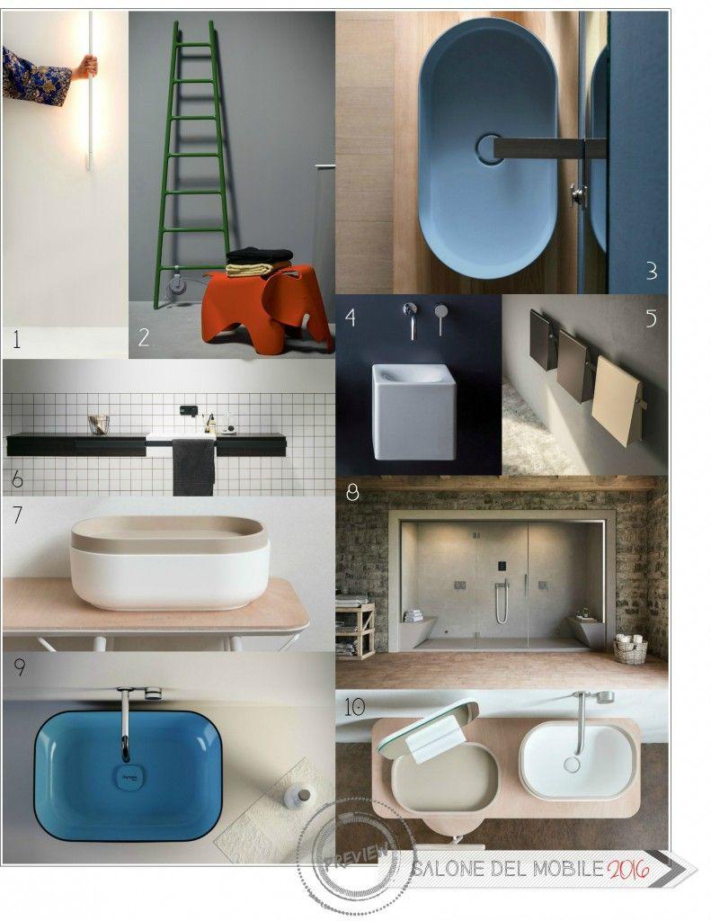 Salone del mobile 2016 anteprima bagni dt mood board for Bagni design 2016