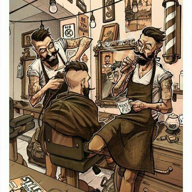 Barber Cartoon Barber Haircuts Barber Shop Decor Barber Shop