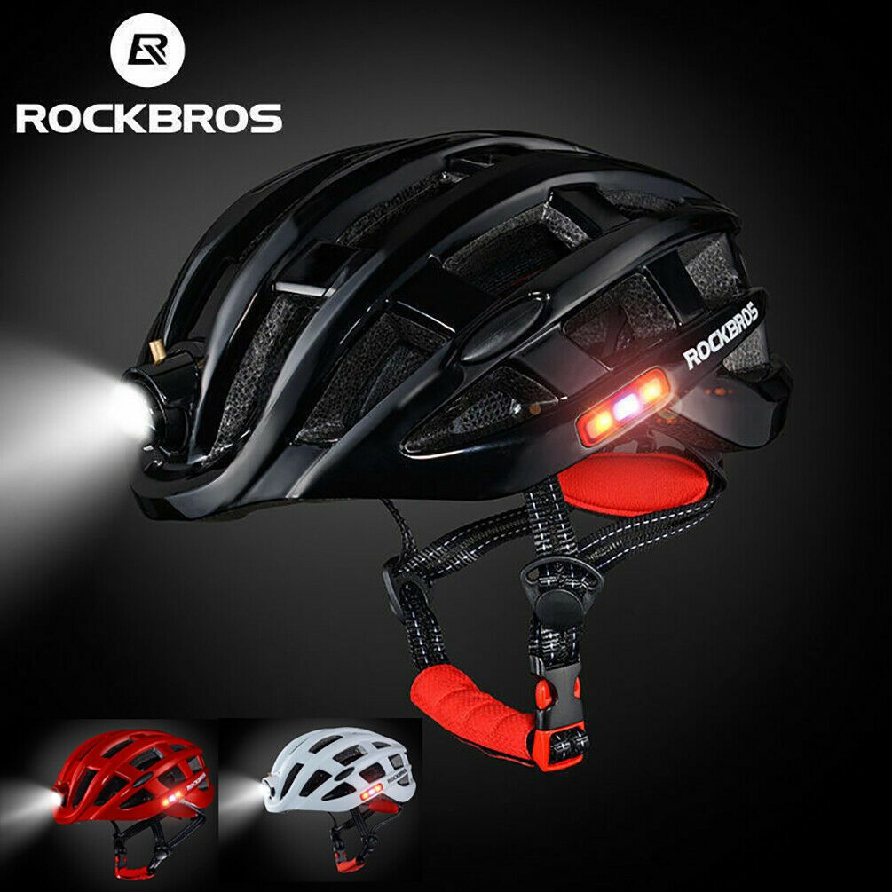 Details About Rockbros Bicycle Ultralight Helmet With Light Usb