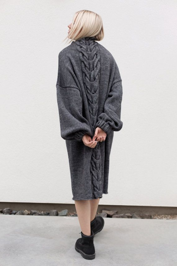 b1d96a4a1f565c oversized dresses oversized knitting loose sweater cable by ATUKO ...