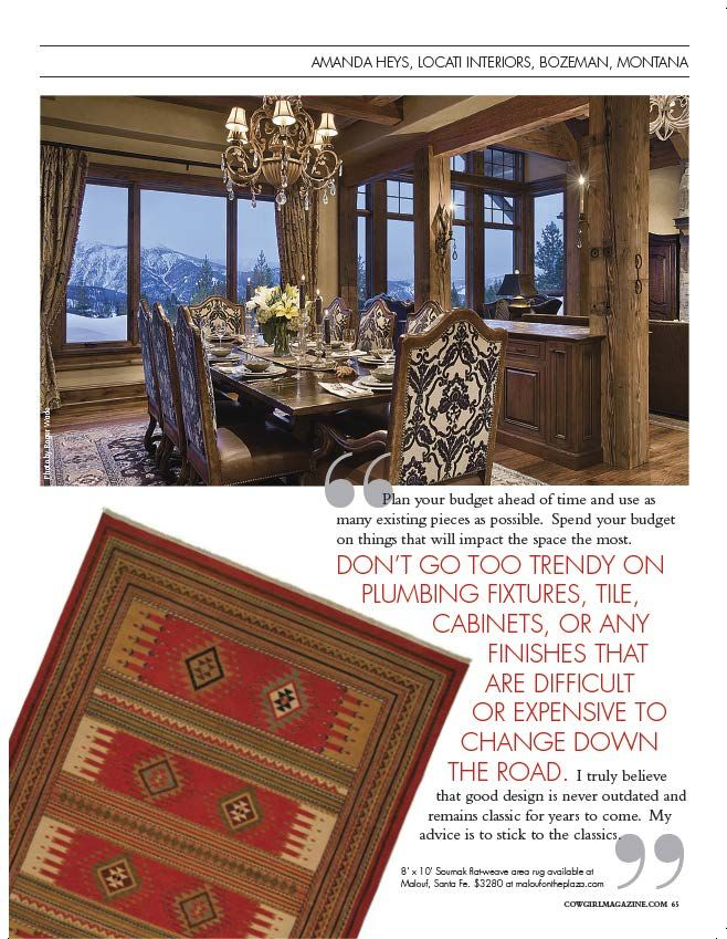 Western Interiors   Cowgirl Magazine