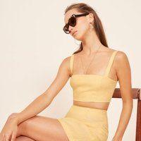 cda067f47b Le Fashion Blog Shop The Best Matching Two Piece Sets Yellow Short Set Via  Reformation photo