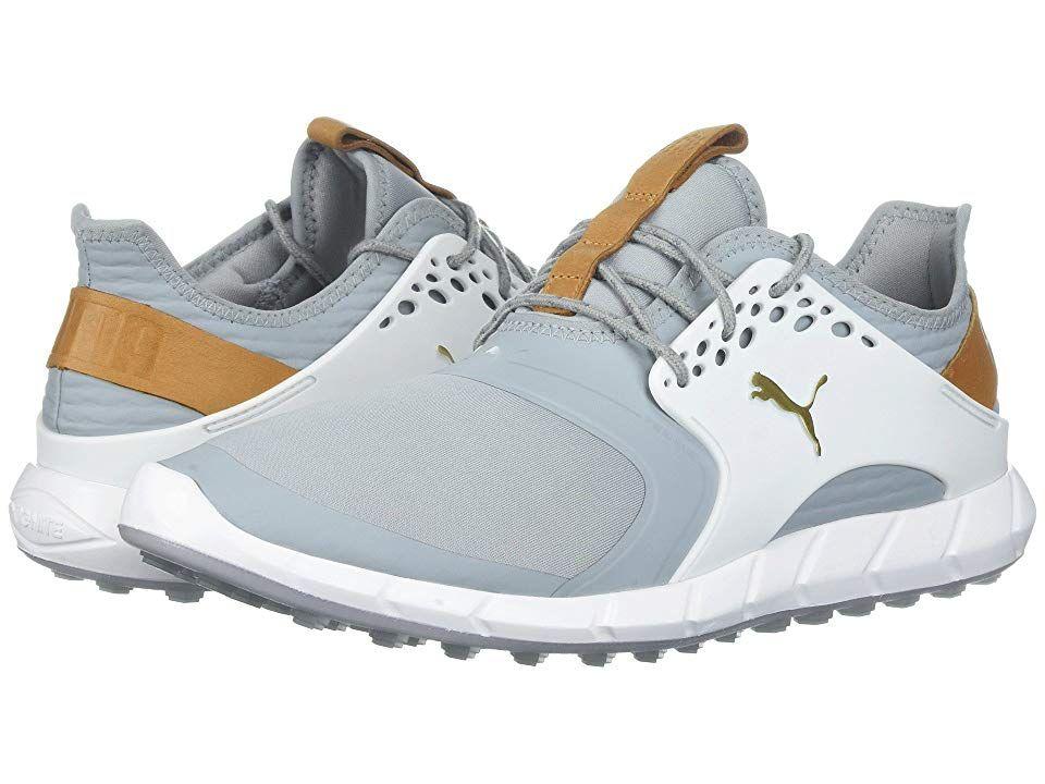 db09b7cb5b32 PUMA Golf Ignite Power Sport (Quarry Puma Team Gold Puma White) Men s